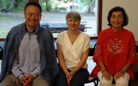 LIU Dong, Marie-Laure Desivi et Ghsilaine Garinet